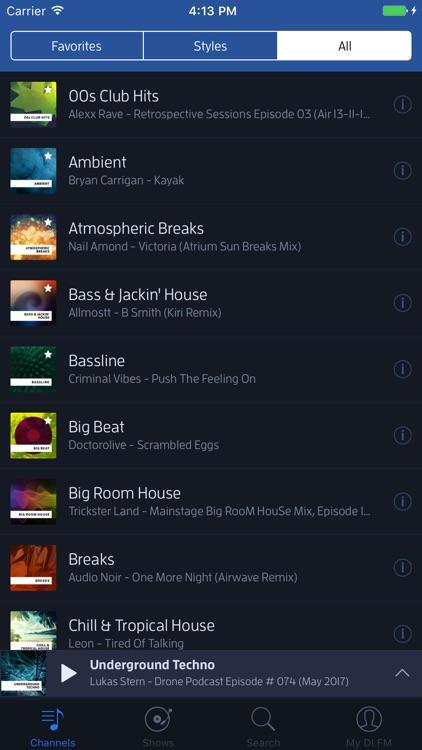 DI.FM Radio screenshot-0