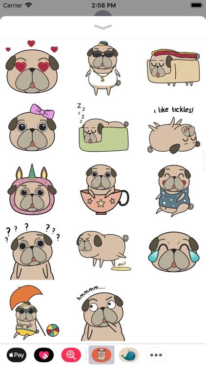 Pug Puppy Sticker Pack! screenshot-3