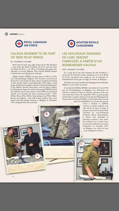 Revue Airforce Magazine screenshot one