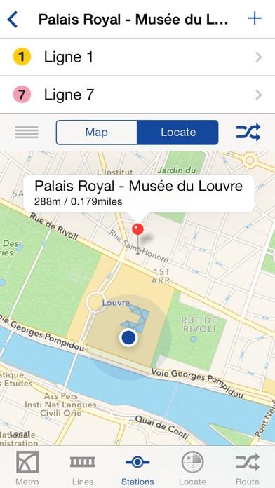 Metro Paris Map and Routes screenshot 2