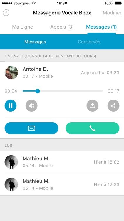 Messagerie Vocale Bbox screenshot-3