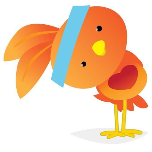 Orange Robin - emoji stickers