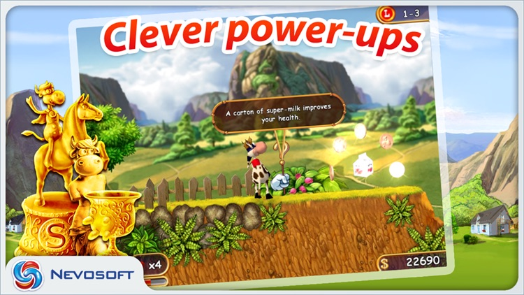 Supercow: funny farm arcade platformer Lite screenshot-2
