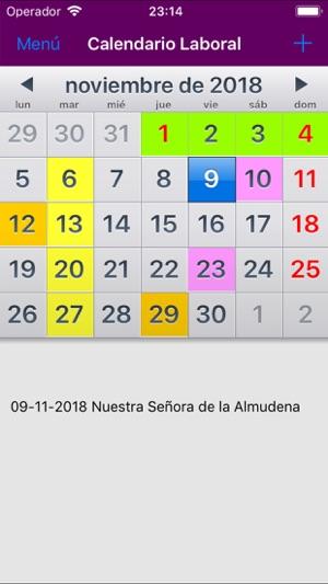 Calendario Laboral Tenerife 2019.Calendario Laboral Espana 2019 En App Store