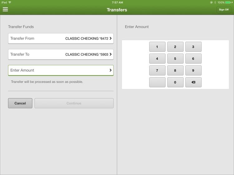 Union Savings Bank Mobile for iPad