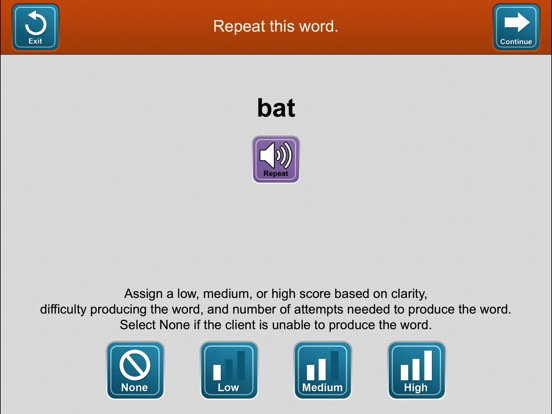 Lingraphica Device Assessment screenshot four