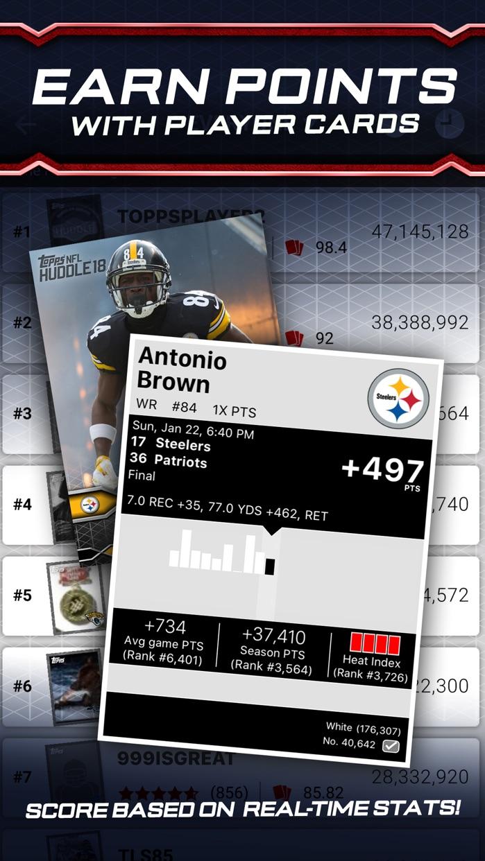 NFL HUDDLE: Football Card Trader Screenshot