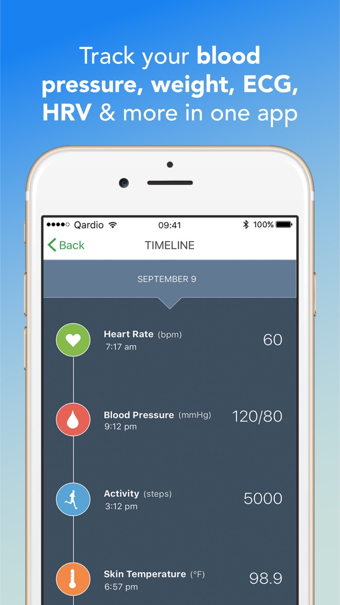 Qardio heart health Screenshot