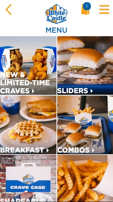 White Castle Online Ordering review screenshots
