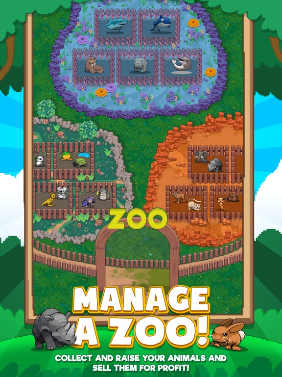 Screenshot 1 Idle Zoo Tycoon