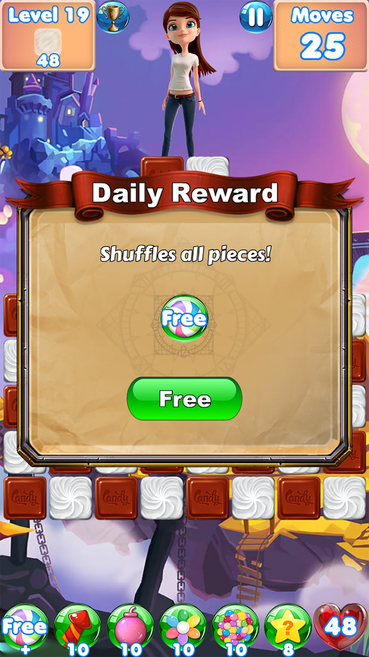 Candy Girl - Fun match 3 games Screenshot