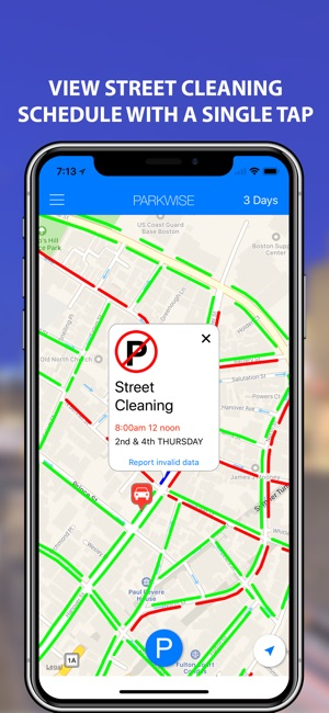 Street Sweeping Nyc Map.Parkwise Street Parking On The App Store