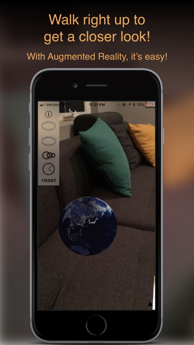 Augmented Reality Solar System Screenshots