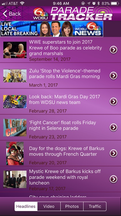 WDSU Parade Tracker screenshot-2