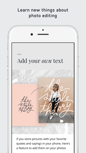 AppForType add text to photos on the App Store