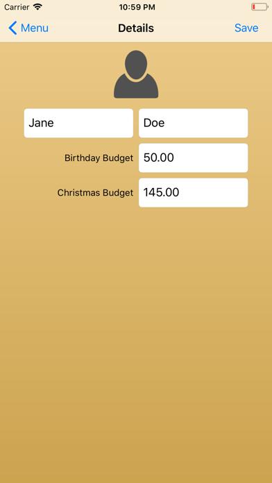 Xmas & Birthday Gift List screenshot four