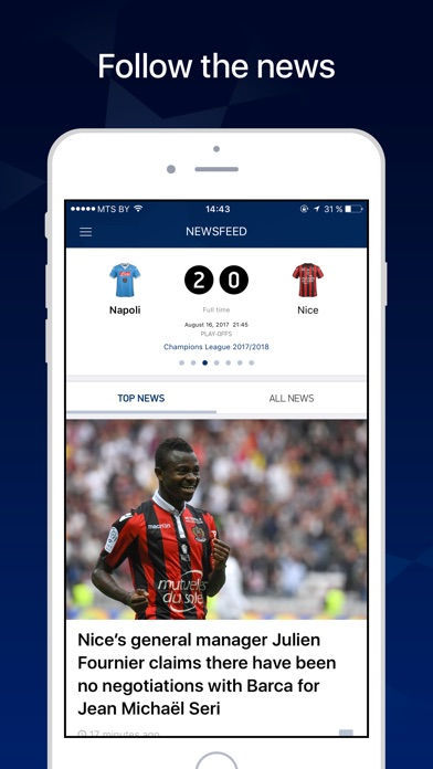 League Live – Scores & News screenshot one