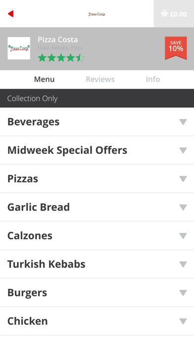 Pizza Costa screenshot two