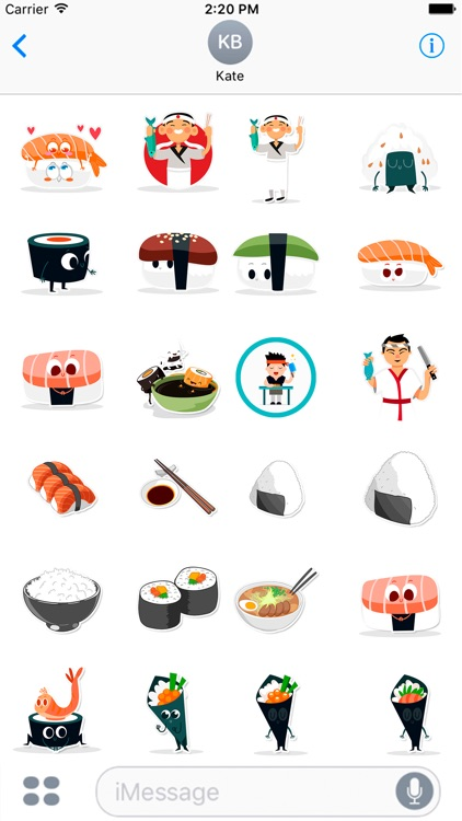 Sushi and Asian Food Lovers Stickers