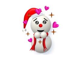 SnowmanMoji Snowman Sticker