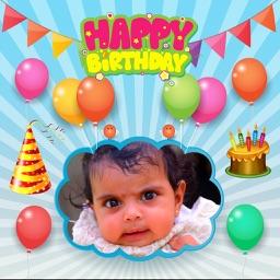 Birthday Photo Frames - Happy Bday Greetings Maker