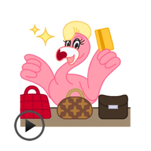 Animated Stylish Flamingo Sticker
