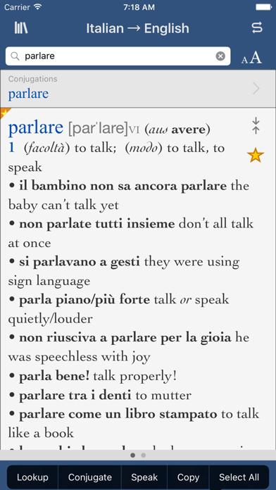 Collins Italian-English screenshot one