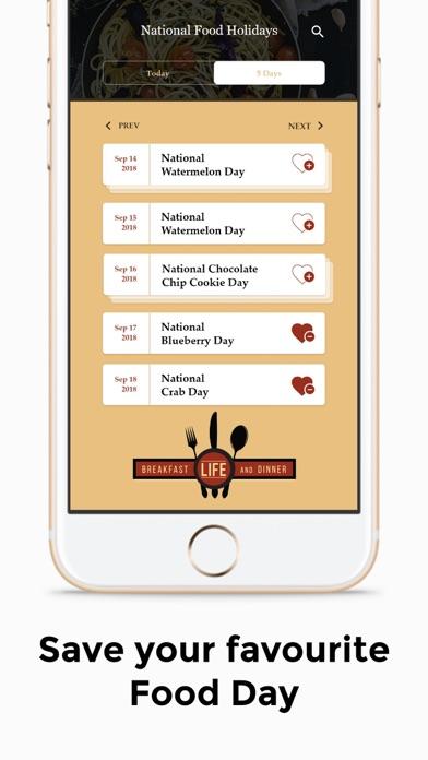 National Food HolidaysScreenshot of 7