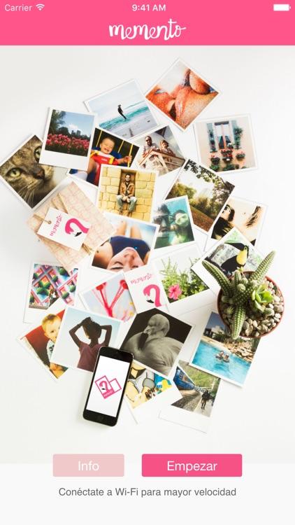 Memento – Imprime tus recuerdos–impresión de fotos