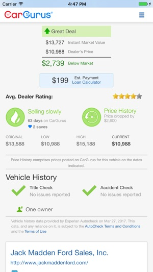 CarGurus: Shop Cars, Get Deals on the App Store