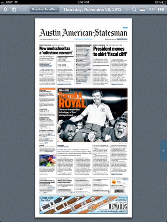 Statesman ePaper screenshot-1