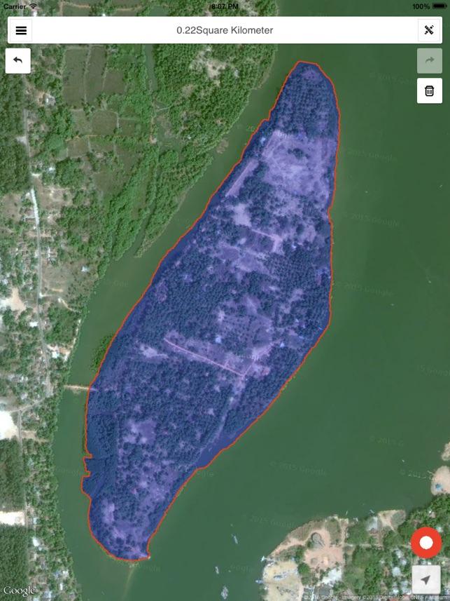Mapulator Map Measure on the