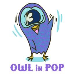 Owl in POP for iMessageSticker