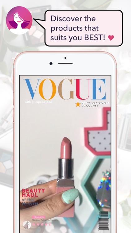 Glimpse - Create beauty magazine makeup video