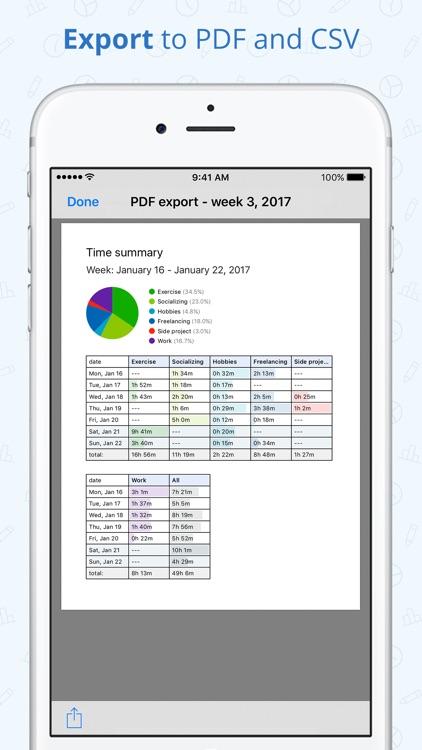 Timelines Time Tracking screenshot-3