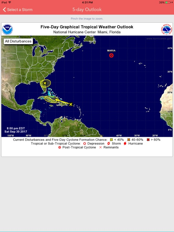 National Hurricane Center Data screenshot 9