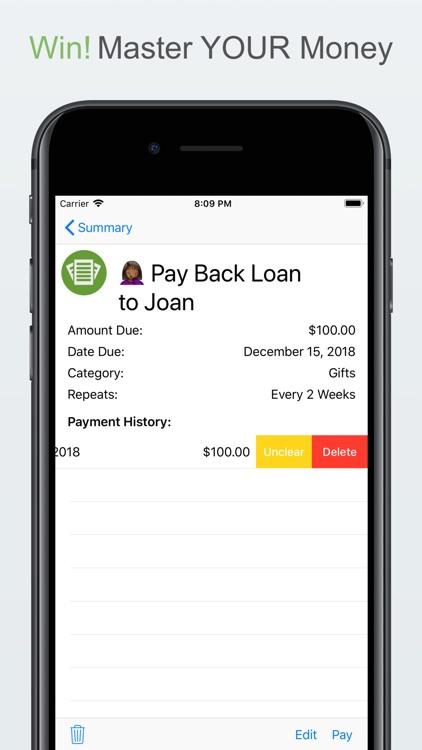 Bill Organizer by Money Master screenshot-4