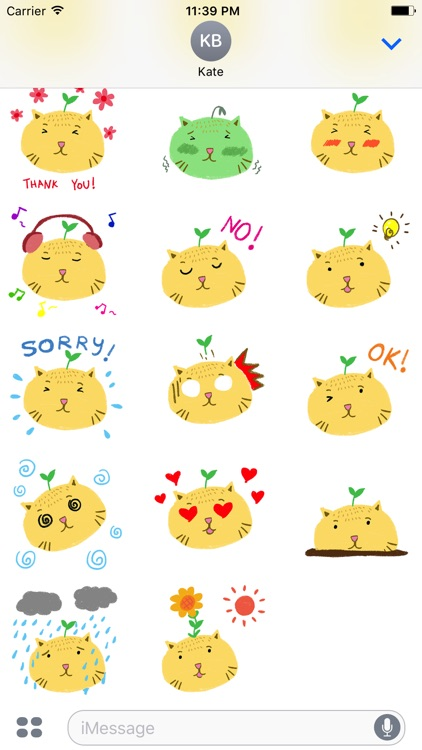Animated Cat Heads Emoji Sticker Pack for iMessage