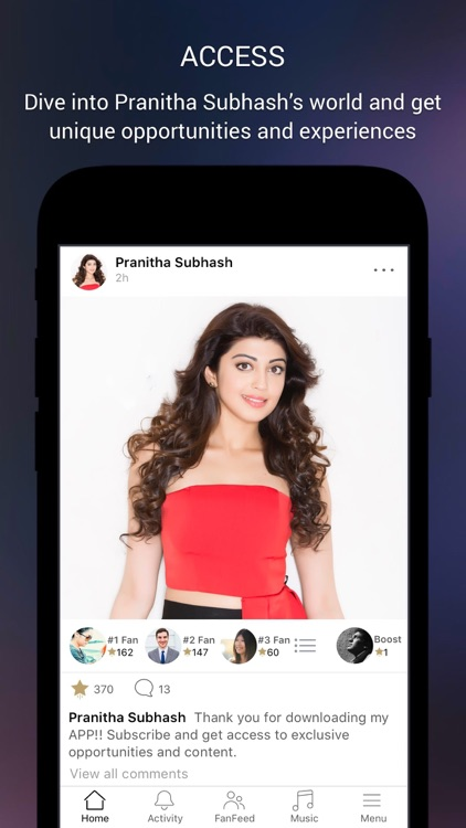 Pranitha Subhash Official App