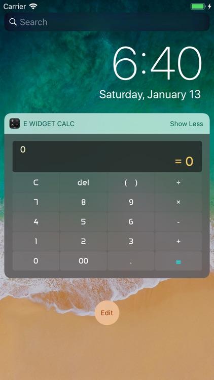 E Widget Calc
