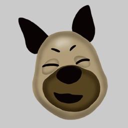 German Shepherd Emoji Sticker!