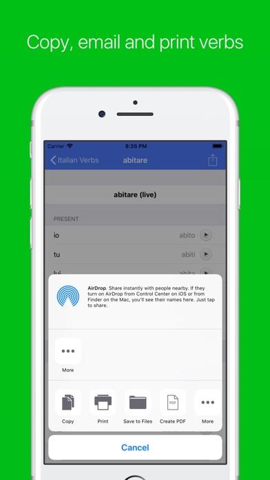 Italian Verb Conjugator Pro Screenshots