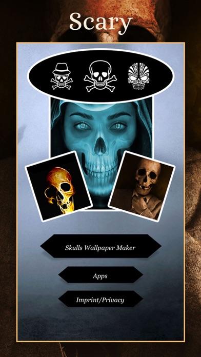 SKULLS Gothic Wallpaper Maker screenshot 2