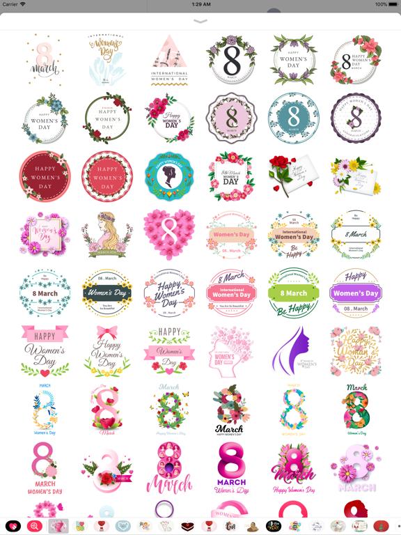 Happy Women's Day Stickers Set screenshot 9