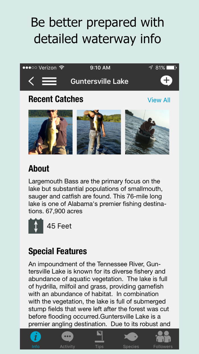 Fishidy: Fishing Report Maps Screenshot