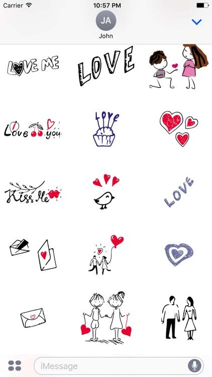 Love Doodle Sticker Pack screenshot-3