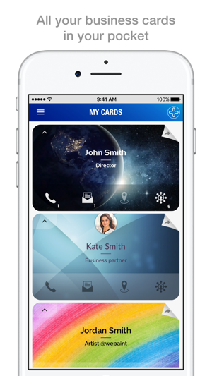 Icheck business cards on the app store colourmoves