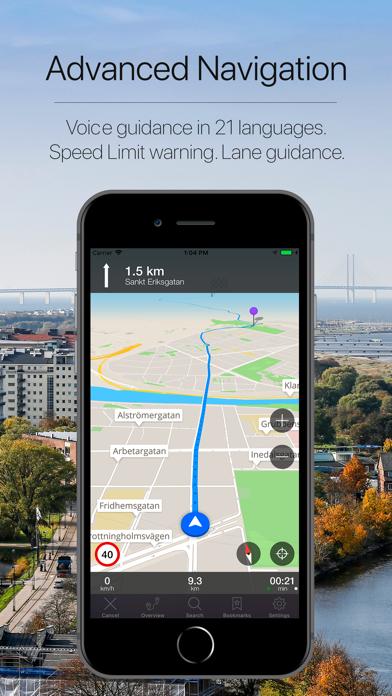 Sweden Offline Navigation Screenshot