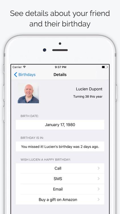 Birthdays - Contacts Birthdays