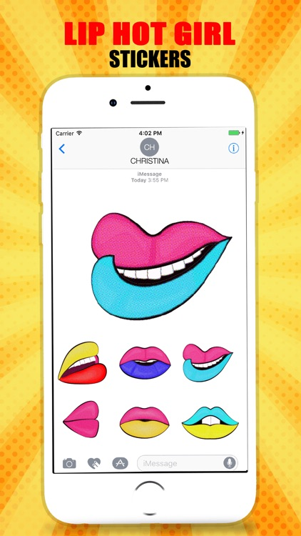 Hot Girl Lips Sticker